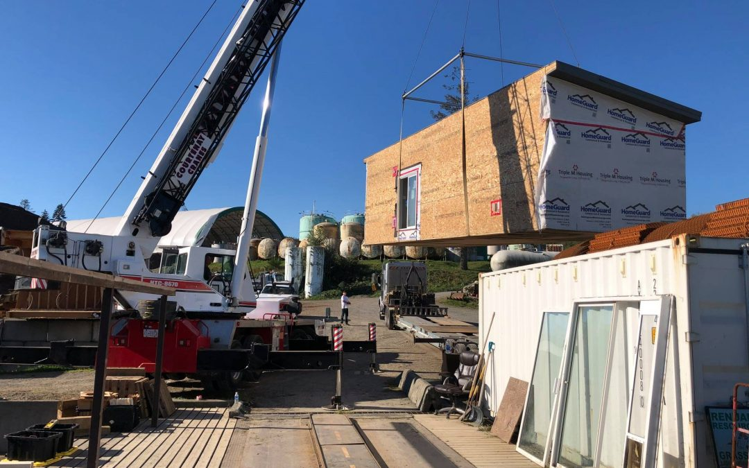 Home being craned